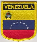 Venezuela 8 Stars And Crest Embroidered Flag Patch, style 07.